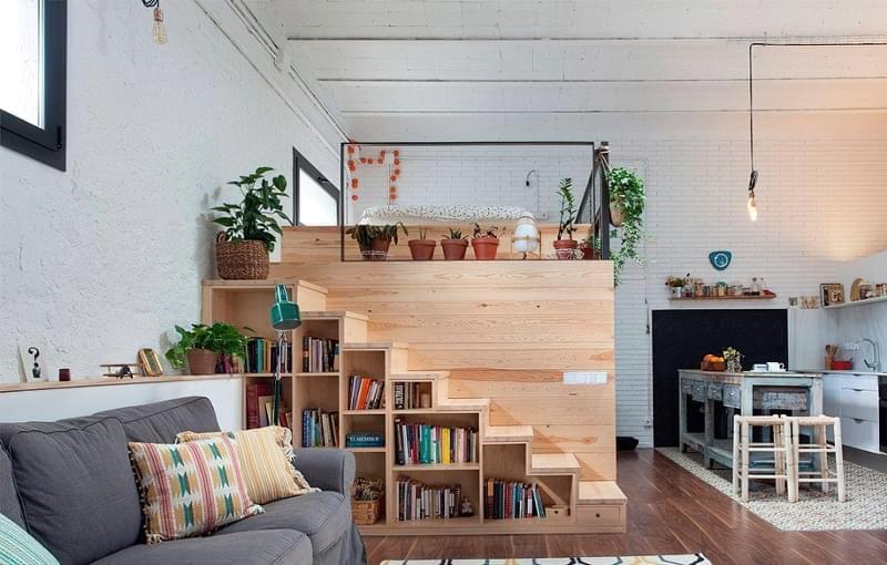Ідеї облаштування місць зберігання під сходами 12