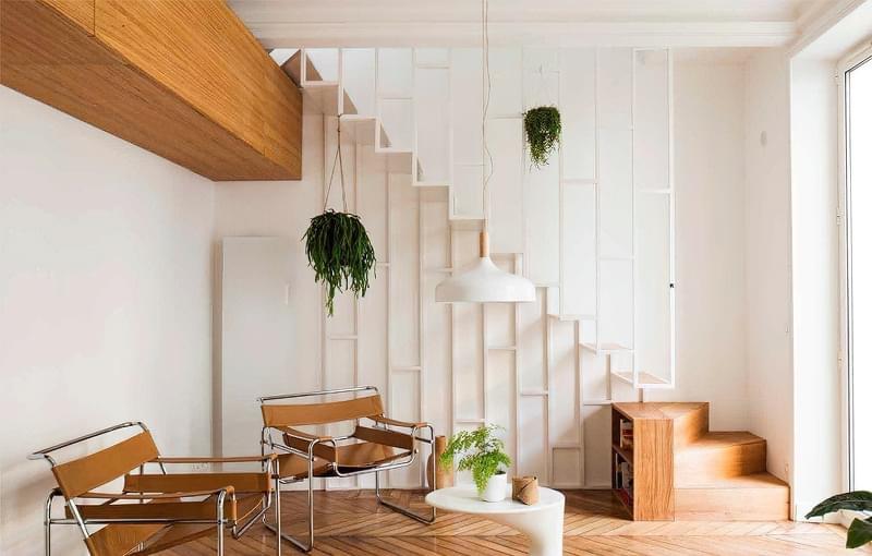 Ідеї облаштування місць зберігання під сходами 10