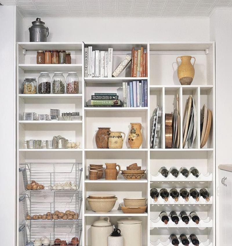 Шафа-комора на кухні: приклади, фото 6
