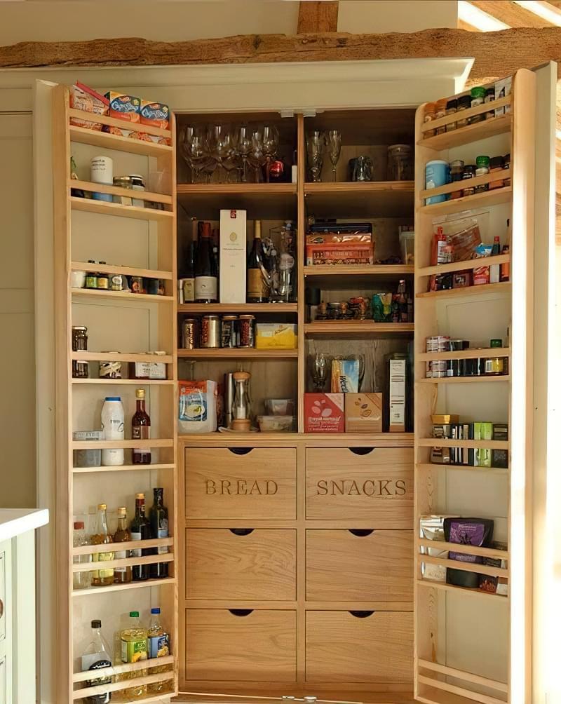 Шафа-комора на кухні: приклади, фото 9