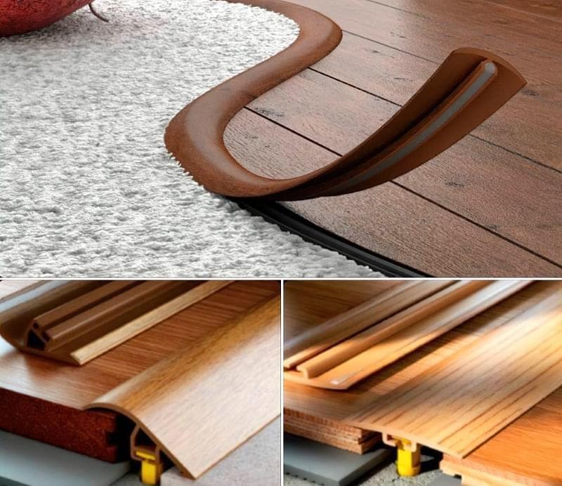 Стик підлогових покриттів складної форми 4