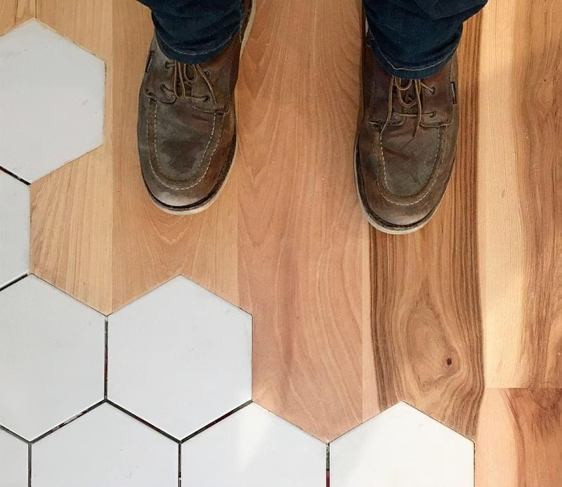 Стик підлогових покриттів складної форми 5