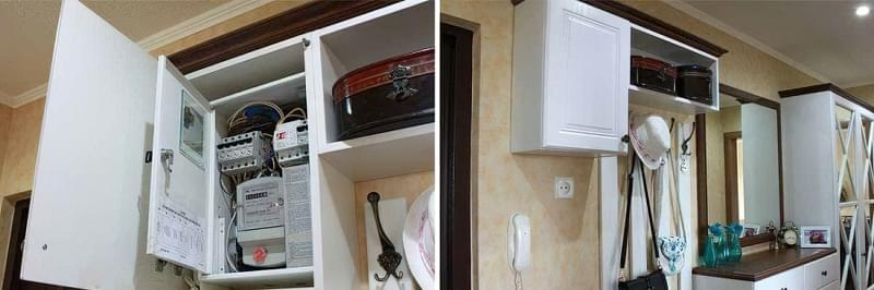 Як замаскувати електрощиток в передпокої 2