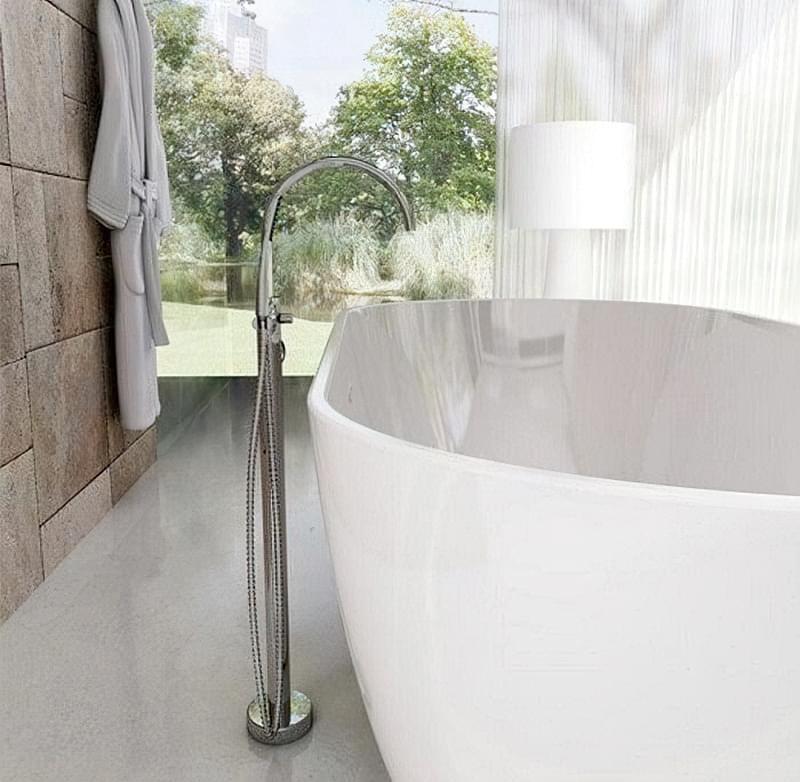 Підлогові змішувачі для ванни: плюси і мінуси 1