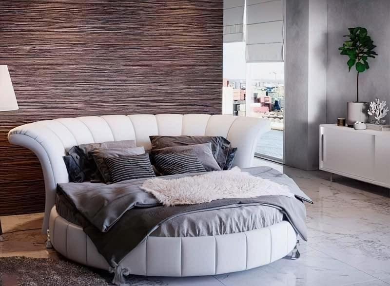 Круглі ліжка в інтер'єрі: фотопідбірка 5