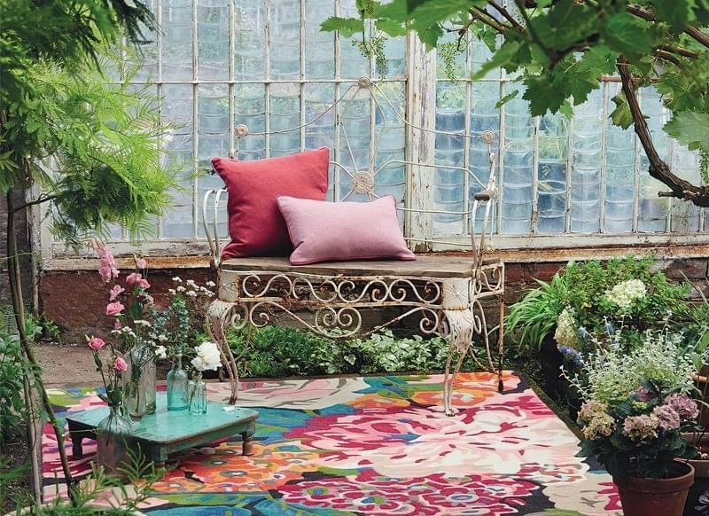 Патіо і тераси з килимом: фотопідбірка 3