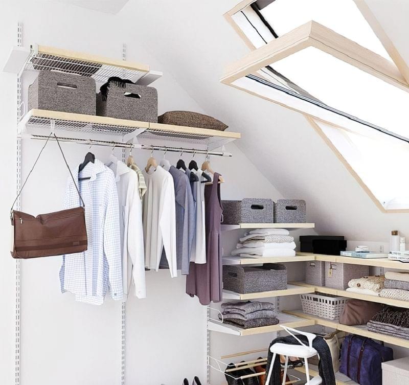 Варіанти розташування гардеробної кімнати в приватному будинку 4