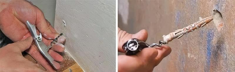 Як витягнути зі стіни дюбель 3