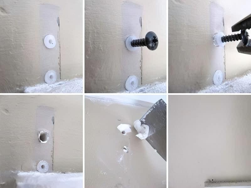 Як витягнути зі стіни дюбель 4