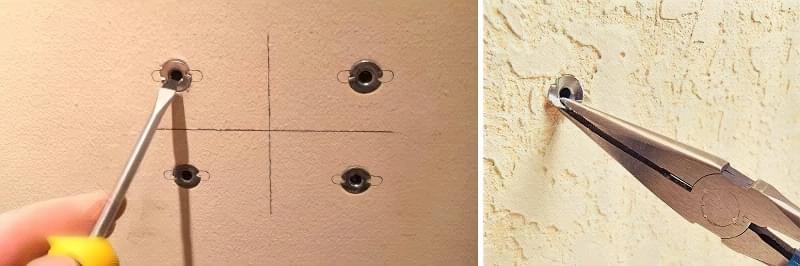 Як витягнути зі стіни дюбель 5
