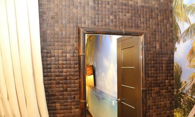 Кокосова плитка, мозаїка в інтер'єрі 4