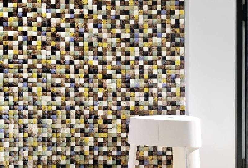 Кокосова плитка, мозаїка в інтер'єрі 5