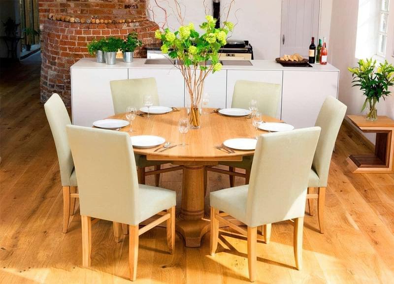 Круглі обідні столи: фотопідбірка 3
