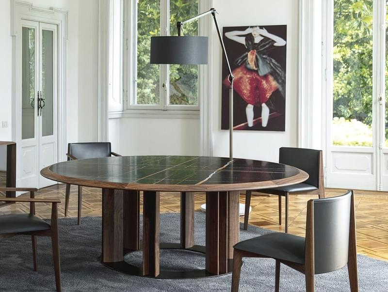Круглі обідні столи: фотопідбірка 4