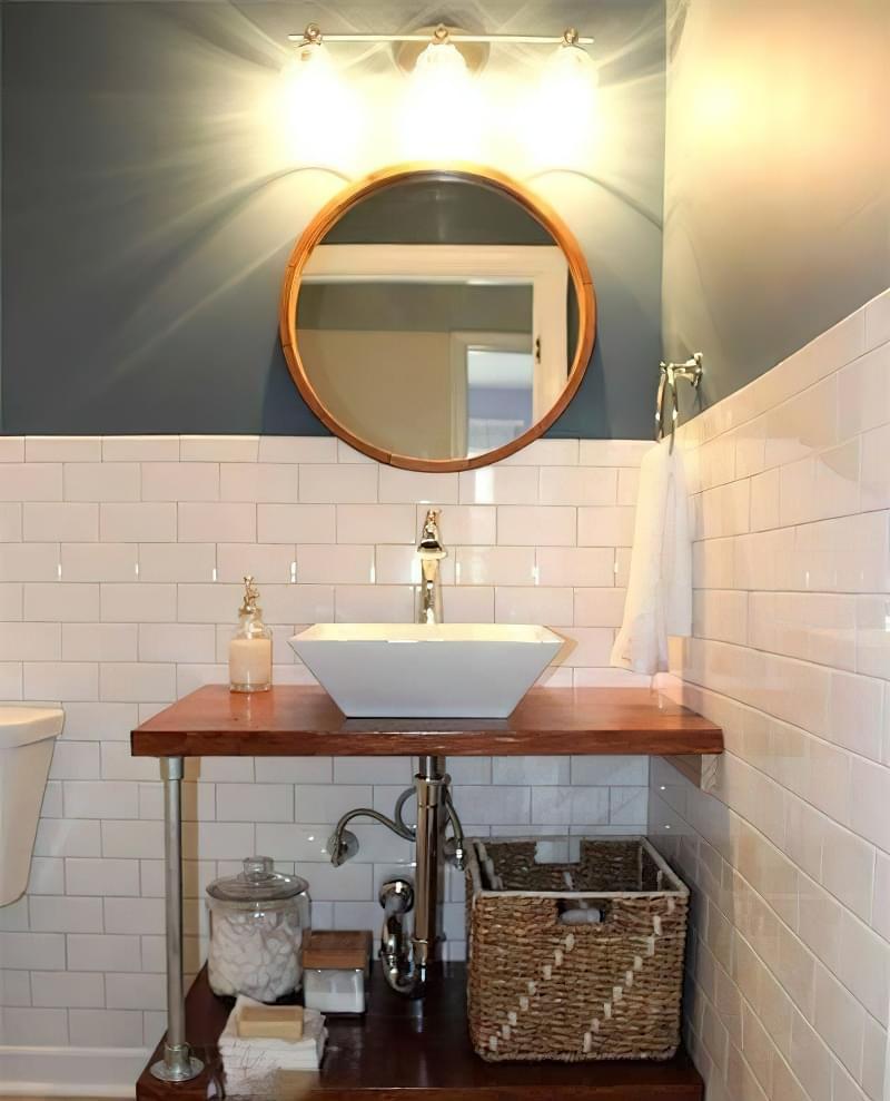Саморобні підставки і тумби під раковину у ванній 3