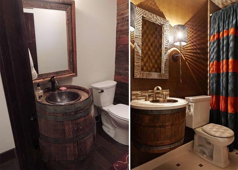 Саморобні підставки і тумби під раковину у ванній 6