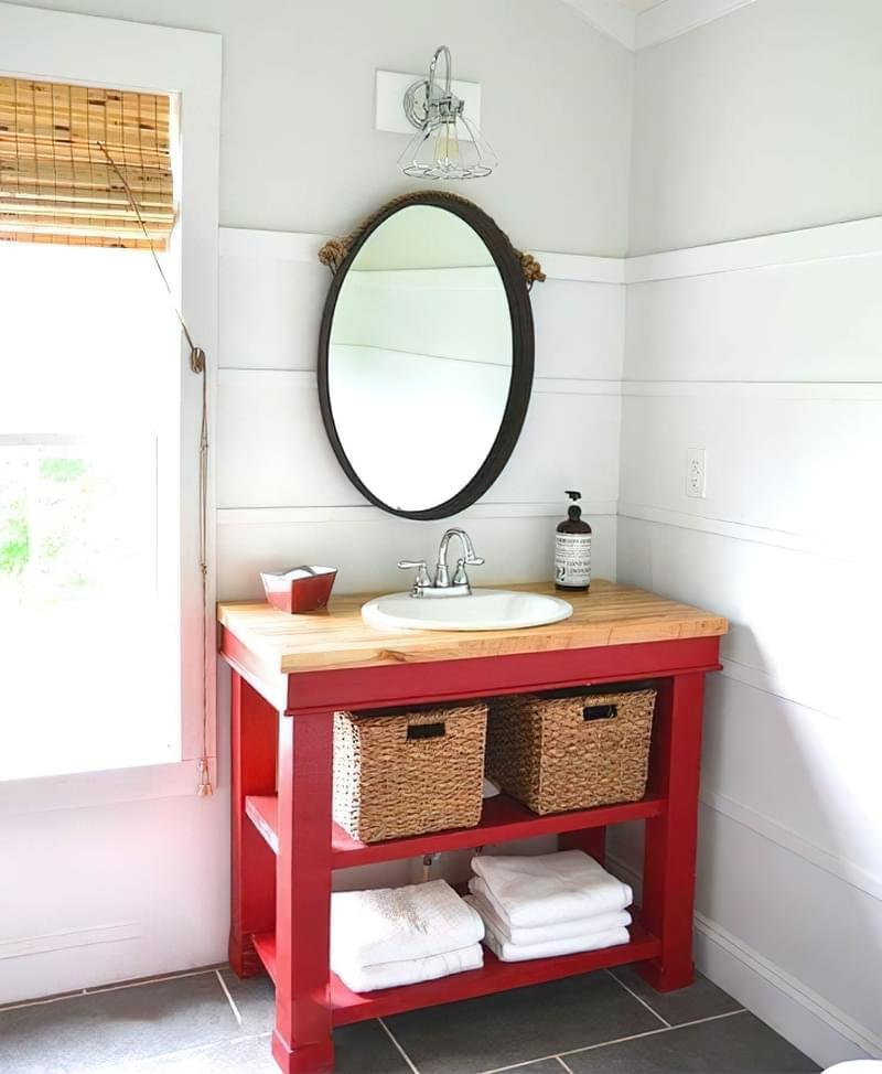 Саморобні підставки і тумби під раковину у ванній 8