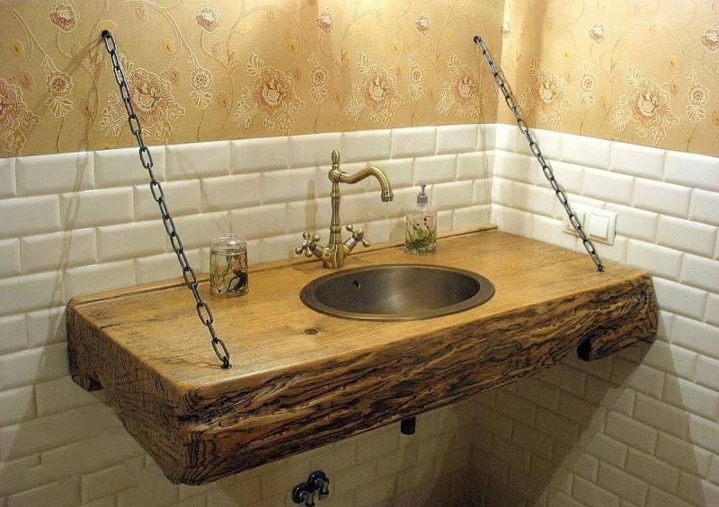 Саморобні підставки і тумби під раковину у ванній 1