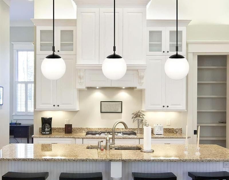 Вибираємо підвісні світильники для кухонного острова 8