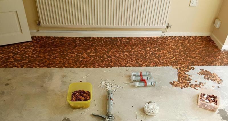 Підлога з монет і епоксидної смоли: фотопідбірка 3