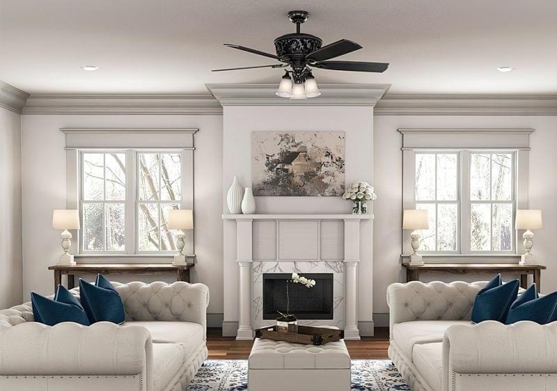 Стельовий вентилятор: особливості вибору і приклади в інтер'єрі 4