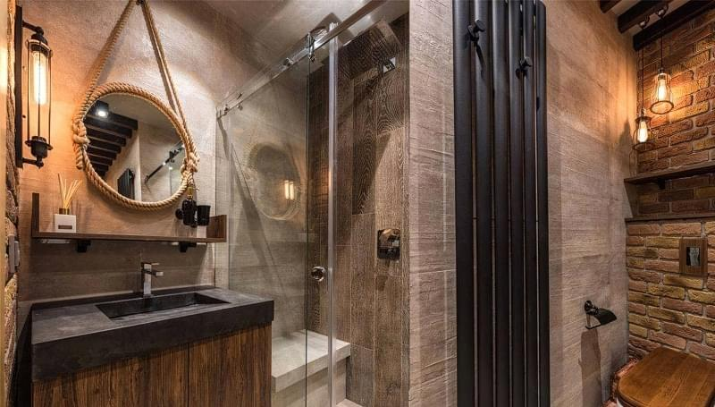 Ванна кімната в стилі лофт: особливості обробки і приклади оформлення 5