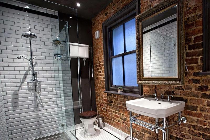Ванна кімната в стилі лофт: особливості обробки і приклади оформлення 1