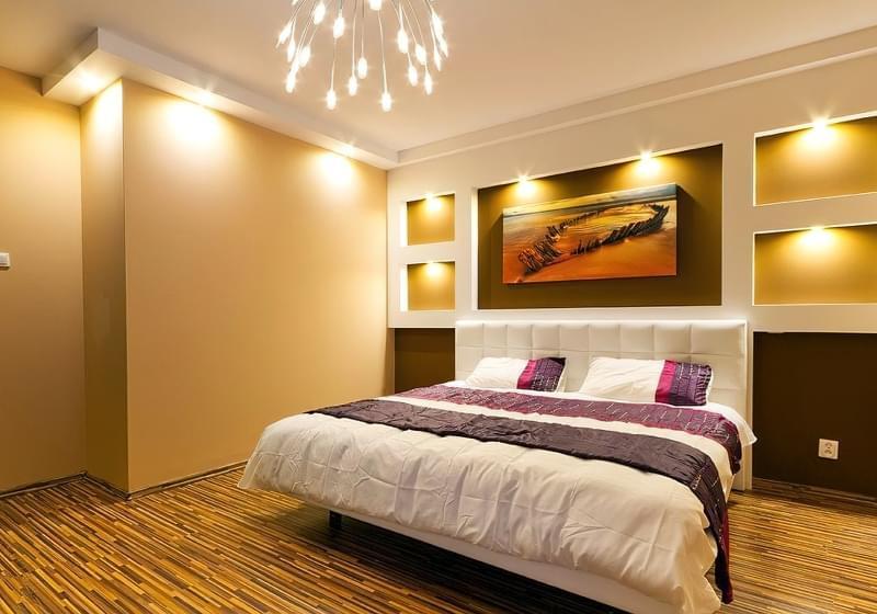 Як організувати правильне освітлення спальні 3