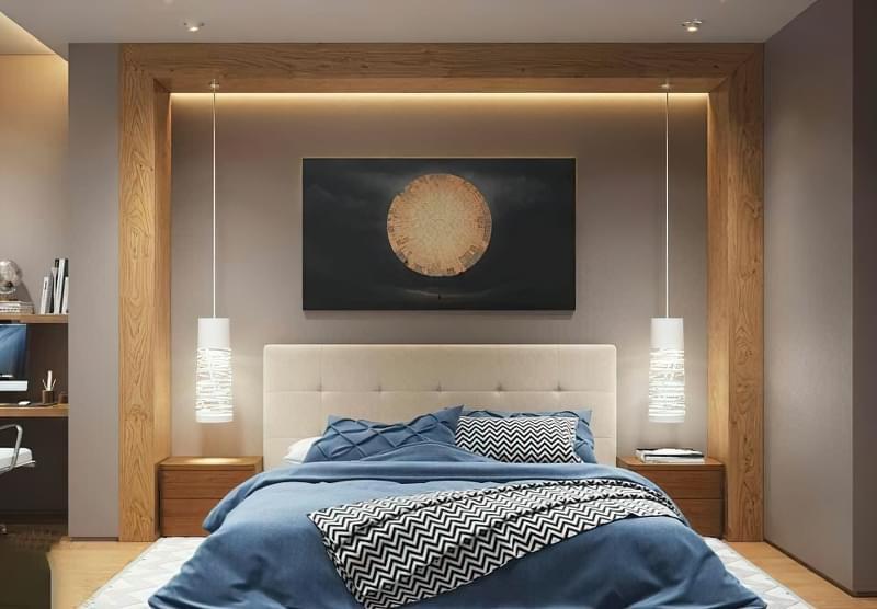 Як організувати правильне освітлення спальні 5