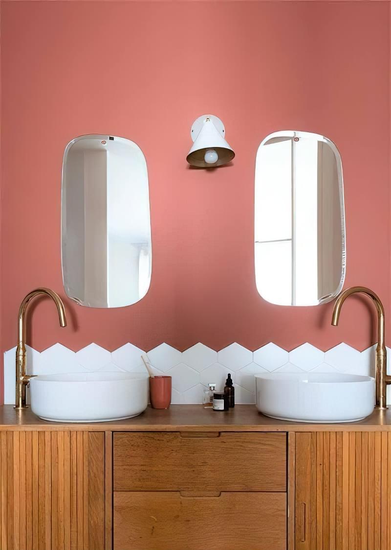 Фартух з плитки у ванній - новий модний тренд 2