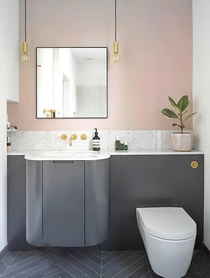 Фартух з плитки у ванній - новий модний тренд 3
