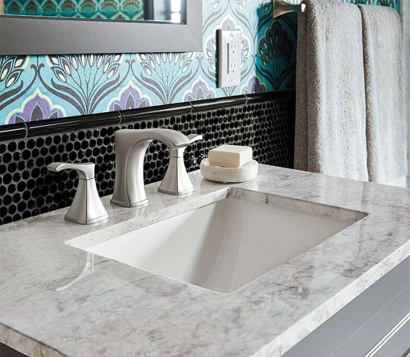 Фартух з плитки у ванній - новий модний тренд 4