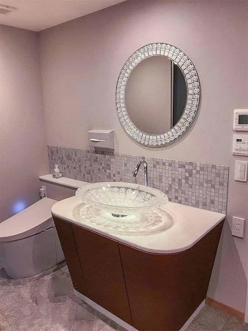 Фартух з плитки у ванній - новий модний тренд 7