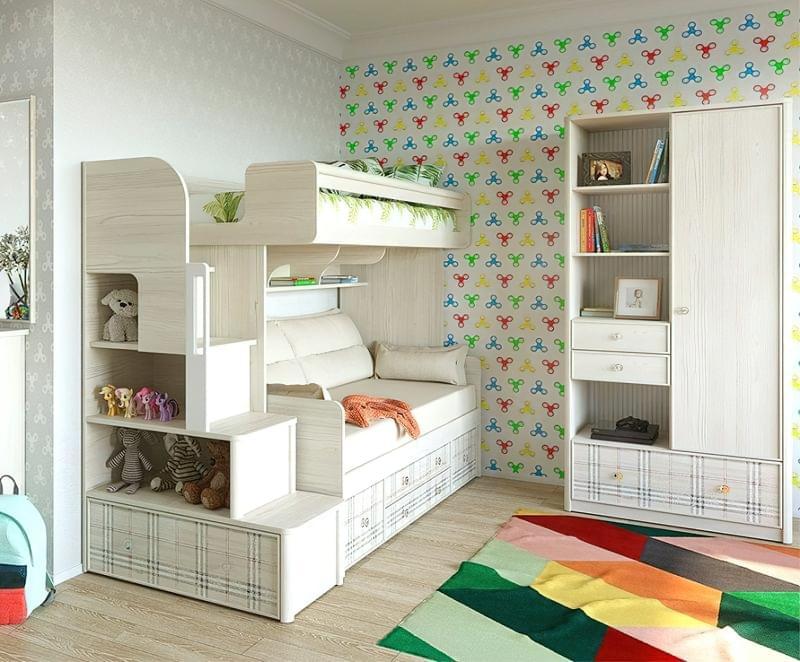 Оригінальні приклади використання модульних меблів в дитячій кімнаті 1