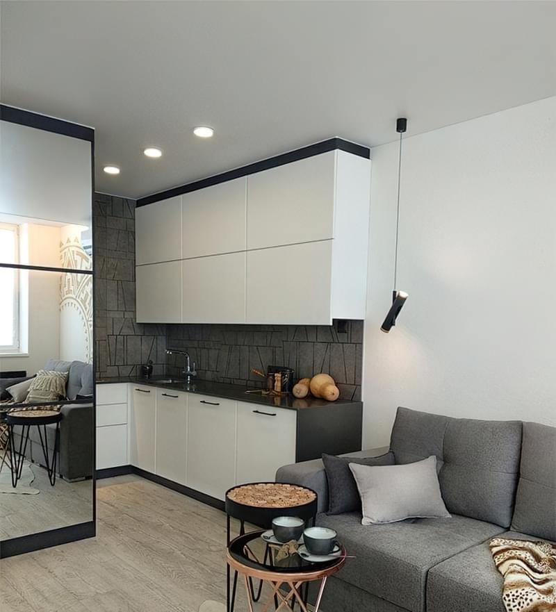 Кухня в ніші без вікна, приклади облаштування, фото 10