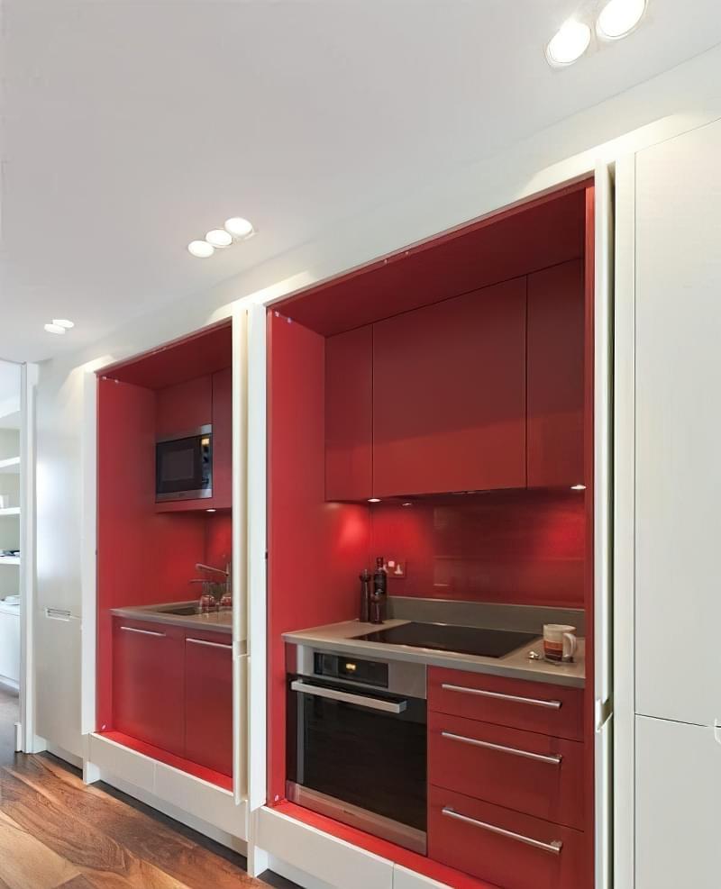 Кухня в ніші без вікна, приклади облаштування, фото 12