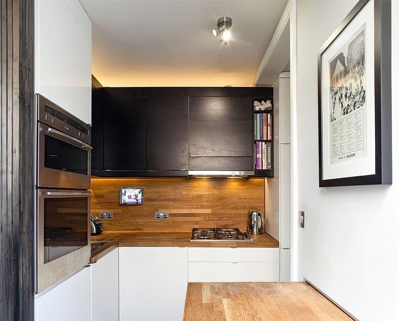 Кухня в ніші без вікна, приклади облаштування, фото 14
