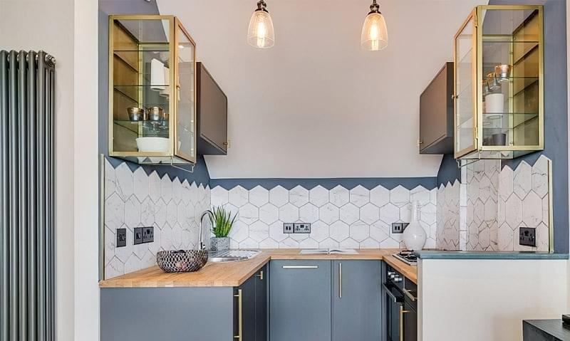 Кухня в ніші без вікна, приклади облаштування, фото 4
