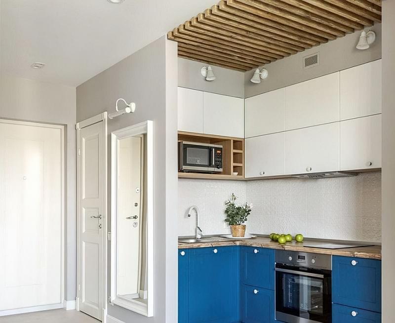 Кухня в ніші без вікна, приклади облаштування, фото 6