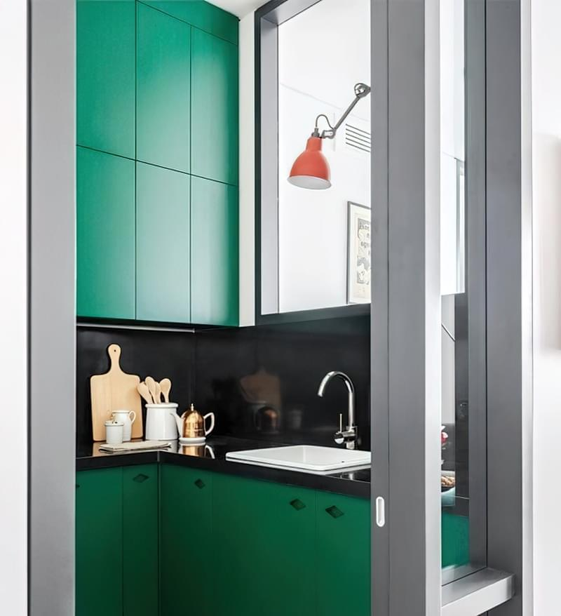Кухня в ніші без вікна, приклади облаштування, фото 7