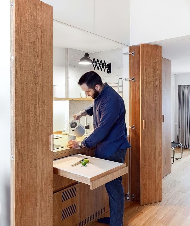 Кухня в ніші без вікна, приклади облаштування, фото 8