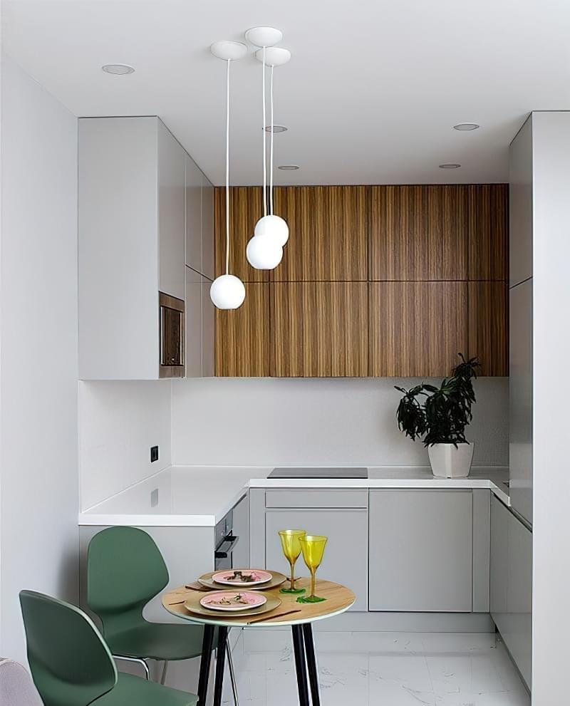 Кухня в ніші без вікна, приклади облаштування, фото 15