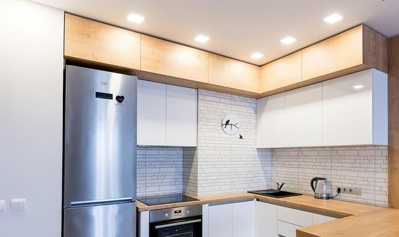 Кухня в ніші без вікна, приклади облаштування, фото 1