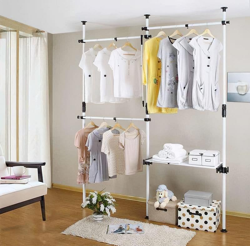 Вішалка замість шафи і гардеробної: приклади 9