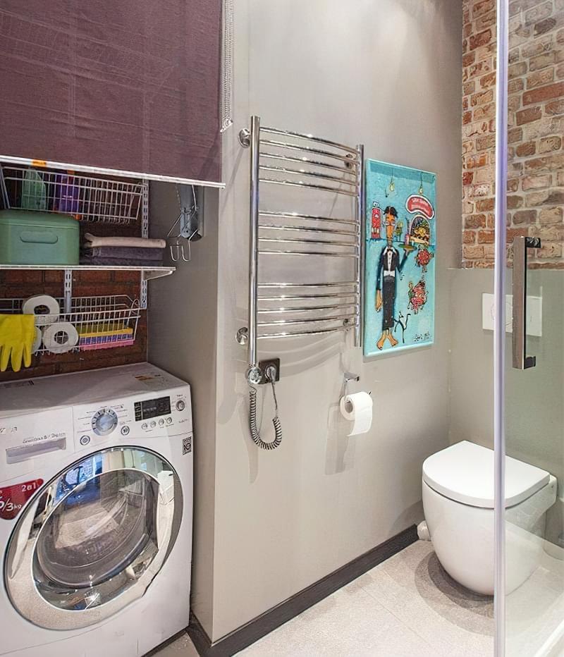 Як заховати пральну машину: фото, приклади 12