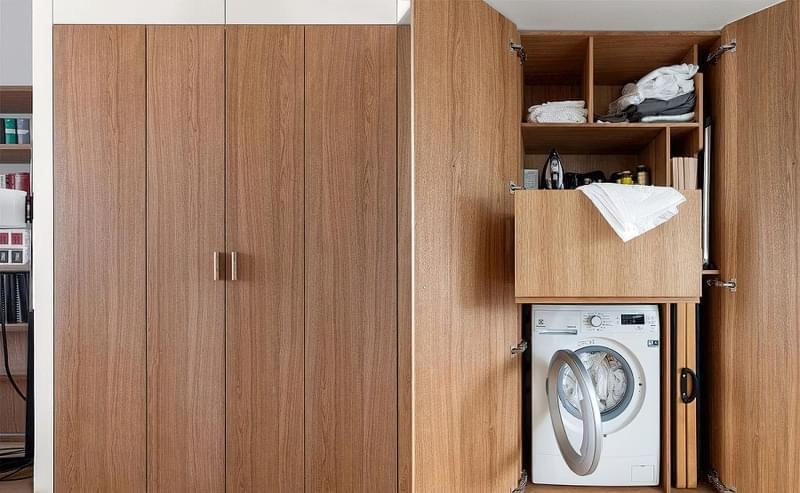 Як заховати пральну машину: фото, приклади 5