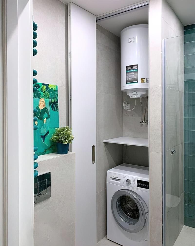 Як заховати пральну машину: фото, приклади 6