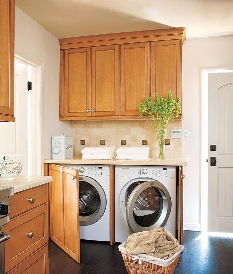 Як заховати пральну машину: фото, приклади 8