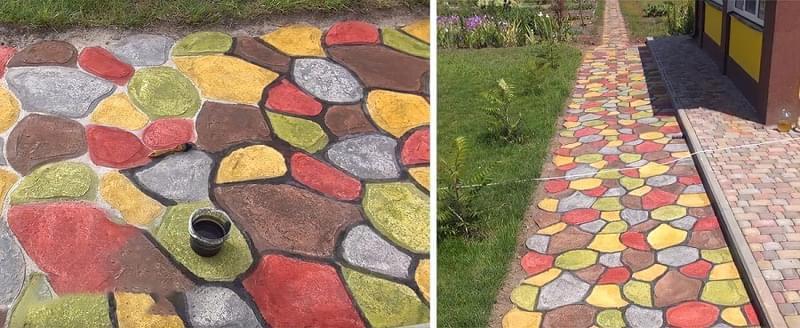 Навіщо фарбувати тротуарну плитку і як це зробити 5
