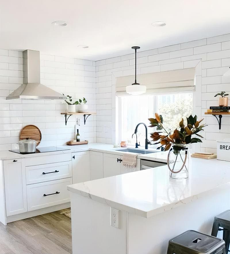 Кухня з півостровом: приклади, плюси і мінуси 6